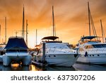 Yacht And Boats Docking At The...