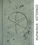 Small photo of Carved Daisy Wheel: Ancient Builder's Reference Symbol