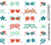 sunglasses retro illustration...   Shutterstock .eps vector #637320982