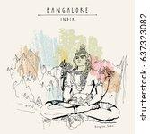 bangalore  karnataka  india.... | Shutterstock .eps vector #637323082