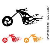 motorcycle symbol | Shutterstock .eps vector #63732364