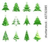 pine tree for christmas... | Shutterstock .eps vector #63732385