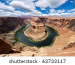 Horse Shoe Bend At Utah  Usa