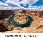 Horse Shoe Bend At Utah  Usa