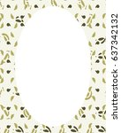 white circle frame background... | Shutterstock . vector #637342132