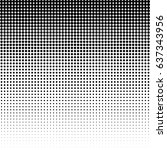 halftone dotted background.... | Shutterstock .eps vector #637343956