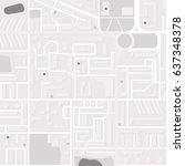 city layout  map. monochrome... | Shutterstock .eps vector #637348378
