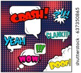 abstract creative concept comic ... | Shutterstock .eps vector #637350865