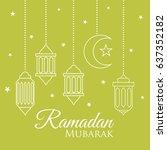 lentern of ramadan   Shutterstock .eps vector #637352182