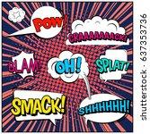 abstract creative concept comic ...   Shutterstock .eps vector #637353736