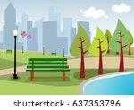 city park | Shutterstock .eps vector #637353796