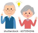 elderly couple inspiration   Shutterstock .eps vector #637354246