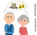 elderly couple great cost | Shutterstock .eps vector #637354336