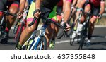 cycling competition cyclist... | Shutterstock . vector #637355848