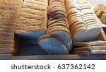 slice of bread   Shutterstock . vector #637362142