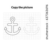 anchor  copy the picture  game... | Shutterstock .eps vector #637363696