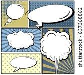 abstract creative concept comic ...   Shutterstock .eps vector #637368862