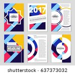 abstract vector layout... | Shutterstock .eps vector #637373032