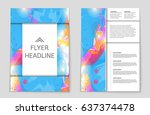 abstract vector layout... | Shutterstock .eps vector #637374478