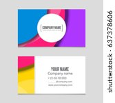 abstract vector layout... | Shutterstock .eps vector #637378606