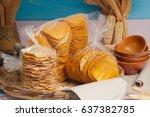 guatemalan tostadas in...   Shutterstock . vector #637382785
