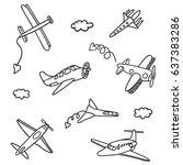 hand drawn vector illustrations ... | Shutterstock .eps vector #637383286