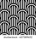 geometric seamless pattern.... | Shutterstock .eps vector #637389652