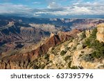wonderful landscape of grand... | Shutterstock . vector #637395796