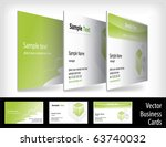 set of business cards | Shutterstock .eps vector #63740032