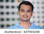 closeup headshot portrait ... | Shutterstock . vector #637401658