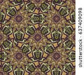 ornate floral seamless texture  ... | Shutterstock .eps vector #637409098