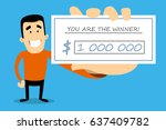 vector illustration of lottery... | Shutterstock .eps vector #637409782