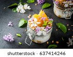 trendy exotic food. vegan... | Shutterstock . vector #637414246