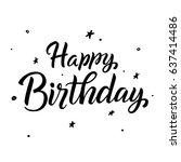 happy birthday.greeting card...   Shutterstock .eps vector #637414486