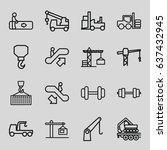 lift icons set. set of 16 lift...   Shutterstock .eps vector #637432945