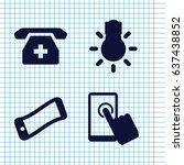 set of 4 smartphone filled... | Shutterstock .eps vector #637438852