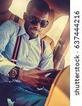 elegant black american... | Shutterstock . vector #637444216