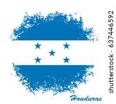 flag of honduras. | Shutterstock .eps vector #637446592