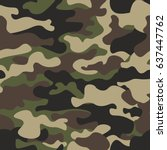 camouflage seamless pattern...   Shutterstock .eps vector #637447762