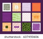 creative freehand colorful...   Shutterstock .eps vector #637450606
