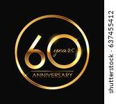 template 60 years anniversary ... | Shutterstock . vector #637455412