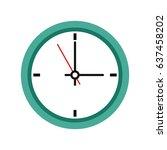 office clock time business...   Shutterstock .eps vector #637458202