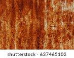 abstract rusty metal texture ... | Shutterstock . vector #637465102