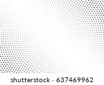 abstract halftone dotted... | Shutterstock .eps vector #637469962