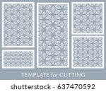decorative panels set for laser ... | Shutterstock .eps vector #637470592