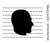 man prison icon. black... | Shutterstock .eps vector #637472986