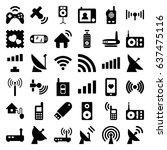 wireless icons set. set of 36... | Shutterstock .eps vector #637475116