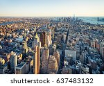 aerial view to skyline with... | Shutterstock . vector #637483132