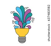 big idea bulb symbol | Shutterstock .eps vector #637483582