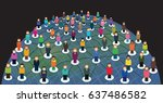 vector illustration of people ... | Shutterstock .eps vector #637486582